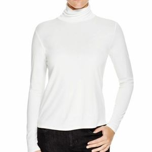 Eileen Fisher White Ribbed Turtleneck T-shirt soft